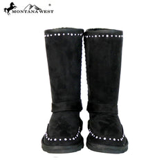BST-108 Montana West Boots Buckle Collection- Black By Size