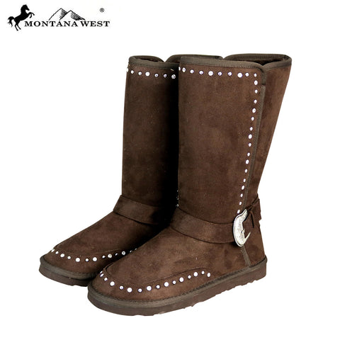 BST-108 Montana West Boots Buckle Collection- Coffee By Size