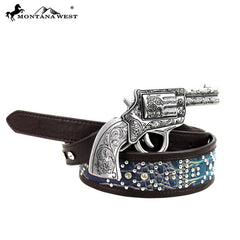 BT-012 Montana West Western Pistol Collection Belt
