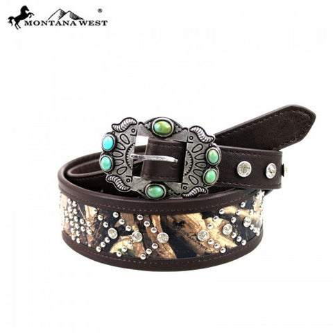 BT-014 Montana West Western Rancho Buckle Design Collection Belt