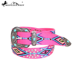 BT-017 Montana West Western Aztec Collection Belt By Size