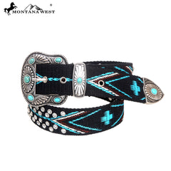 BT-018 Montana West Western Aztec Collection Belt-By Size