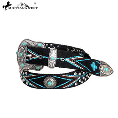 BT-018B Montana West Western Aztec Collection Belt-By Case