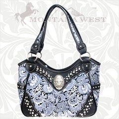 CBK-8110 Montana West Spiritual/Floral Collection Handbag