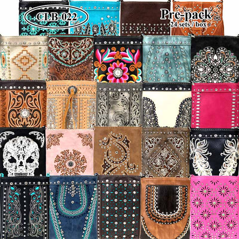 CLB-022 American Bling Crossbody Bag Pre-Pack Set