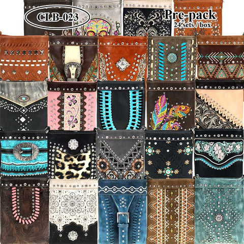 CLB-023 American Bling Crossbody Bag Pre-Pack Set
