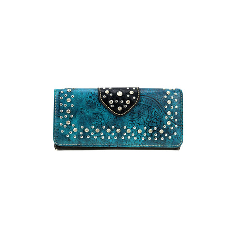 CLBW2-2714 American Bling Turquoise Bling Bling Wallet/Wristlet