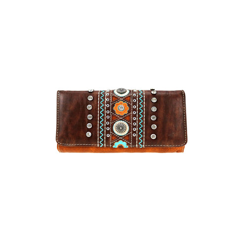 CLBW2-2815  American Bling Coffee Concho Wallet/Wristlet