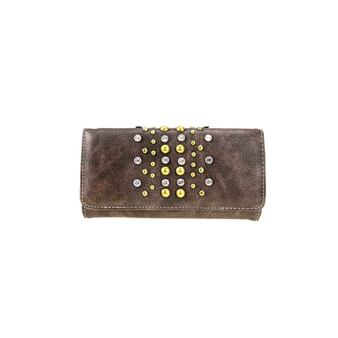 CLBW2-2818  American Bling Studded Wallet/Wristlet