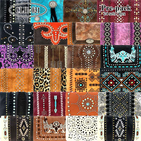 CLH-031 American Bling  Clutch Pre-Pack Assorted Color (24PCS)