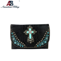 CLS-004  American Bling Western Spiritual Cross Clutch/Mini Shoulder Bag