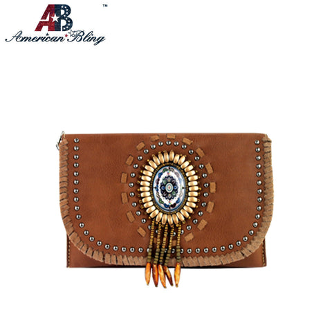 CLS-005  American Bling Western Concho Clutch/Mini Shoulder Bag