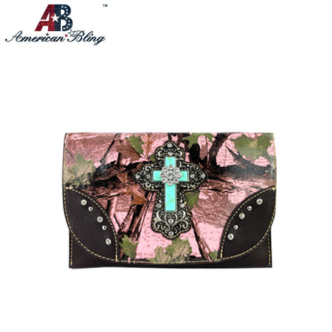 CLS-006  American Bling Western Camo Clutch/Mini Shoulder Bag