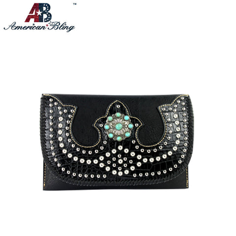 CLS-008  American Bling Western Studded Clutch/Mini Shoulder Bag
