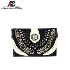 CLS-009  American Bling Western Embroidered Clutch/Mini Shoulder Bag