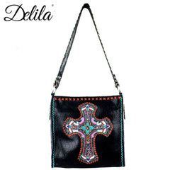 CLT-631C Delila 100% Genuine Leather Hand Embroidered Collection Mini Tote