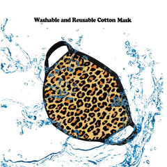 FCM-002 Leopard Print Fabric Face Mask Double Layer  (2PCS)
