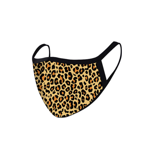 SFCM-002 Leopard Print Fabric Face Mask Double Layer -2Pcs