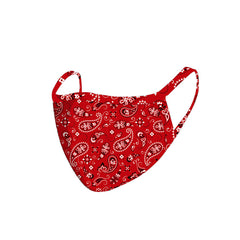 FCM-042 American Bling  Red Paisley Print Cloth face Mask 1Pcs