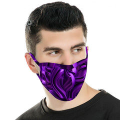 FCM-047 American Bling Purple Pattern Cloth face Mask 1Pcs