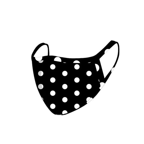 FCM-050 American Bling Black Polka Dot Face Mask 1Pcs