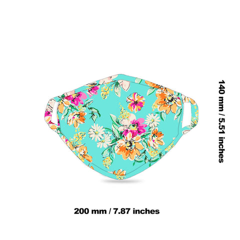 FCM-053  American Bling Floral Print Cloth Face Mask 1Pcs