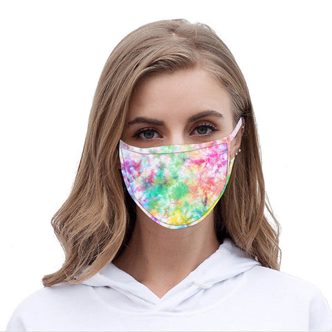 FCM-057  American Bling  Multi Color Print Cloth face Mask 1Pcs