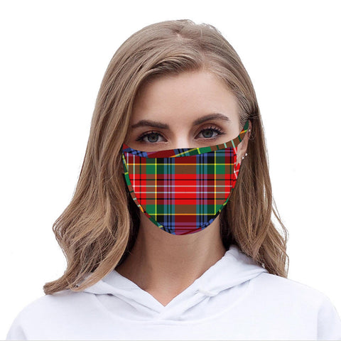FCM-058 American Bling Red Checkered Print Cloth face Mask 1Pcs Pack
