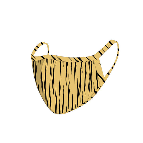 FCM-060 Americam Bling Tan Zebra  Print Cloth face Mask 1Pcs Pack