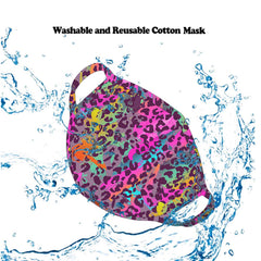 FCM-070  American Bling  Multi Color Leopard Print Cloth face Mask 1Pcs