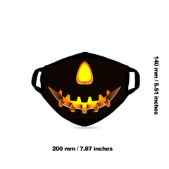SFCM-071 Halloween Pumpkin Print Fabric Face Mask Double Layer 1PCS