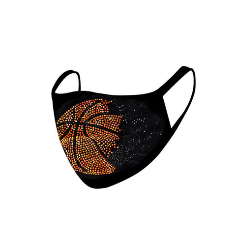 FCM-B102  American Bling Basketball Bling Fabric Mask Double Layer 1Pcs Set