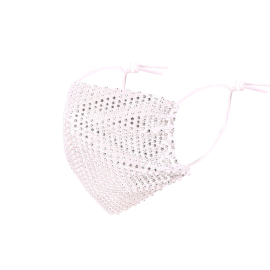 FCM-B107 Bling Sparkly Rhinestone Mesh Masquerade Face Cover 1Pc Pack