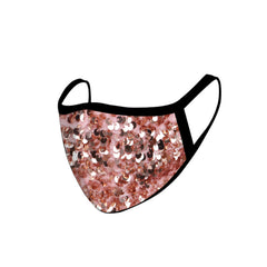 FCM-B108  American Bling Sequins Bling Pattern Print Fabric Mask Double Layer 2Pcs
