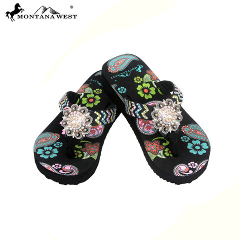 FK04-S001 Aztec Kid Thin Sole Collection Flip Flops BY CASE