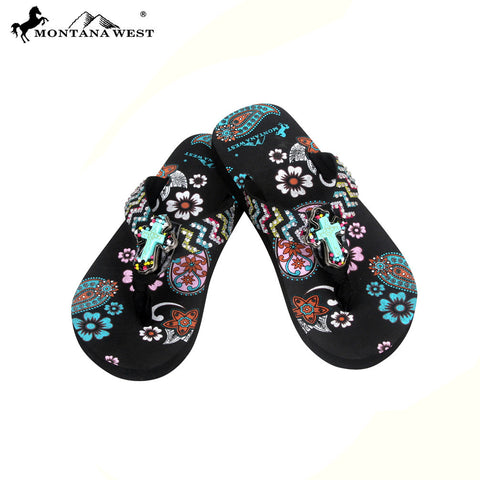 FK04-S088S Aztec Kid Thin Sole Collection Flip Flops BY CASE