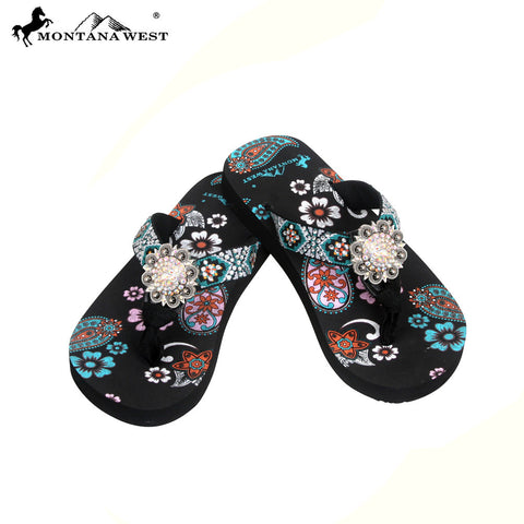 FK05-S001 Aztec Kid Thin Sole Collection Flip Flops BY CASE
