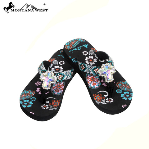 FK05-S008 Aztec Kid Thin Sole Collection Flip Flops BY CASE