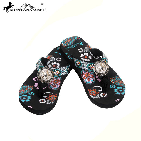 FK05-S089 Aztec Kid Thin Sole Collection Flip Flops BY CASE