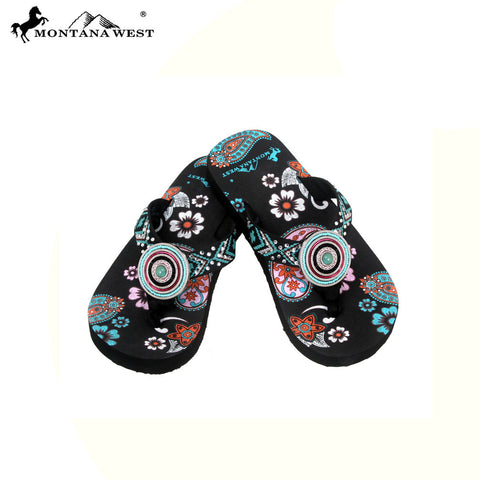 FK01-S090 Aztec Thin Sole Kid Collection Flip Flops BY CASE