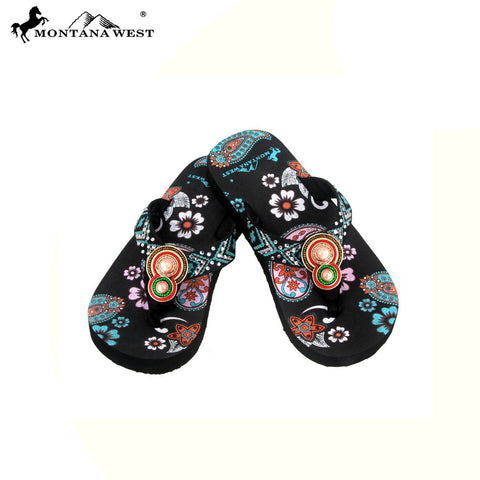 FK01-S093 Aztec Thin Sole Kid Collection Flip Flops BY CASE