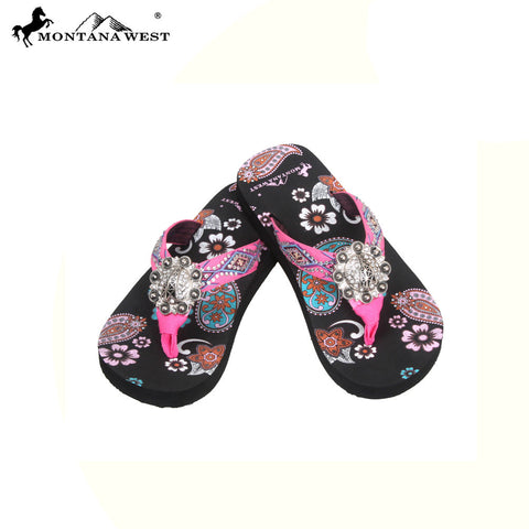 FK02-S091 Aztec Kid Thin Sole Collection Flip Flops BY CASE