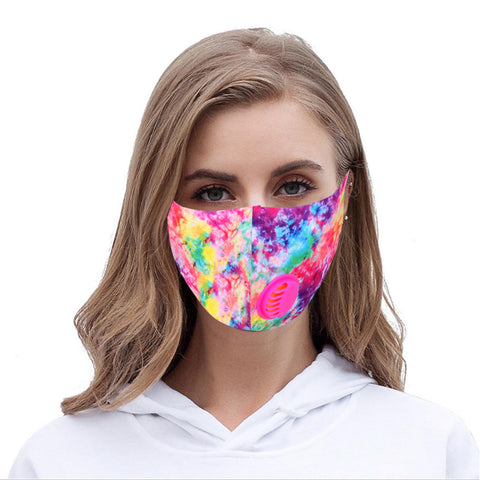 FM-7003R Multi Color Print Single Breathing Valve Single Ply Face Mask