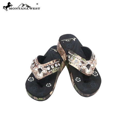 HF01-S008  Spiritual Camo Collection Flip Flops By Case