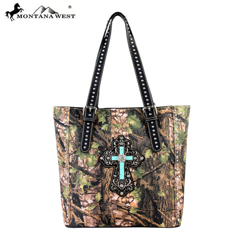 HF06-8375 Montana West Camouflage Spiritual Collection Handbag