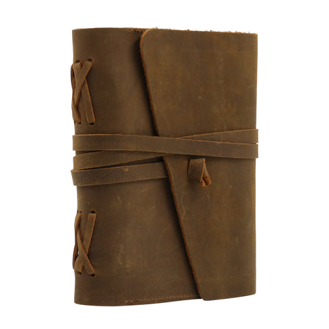"MWL- 034 Montana West Western Vintage Genuine Leather Journal Notebook Handheld Size 6"" x 7.25"" (150 Sheets/300 Pages)"