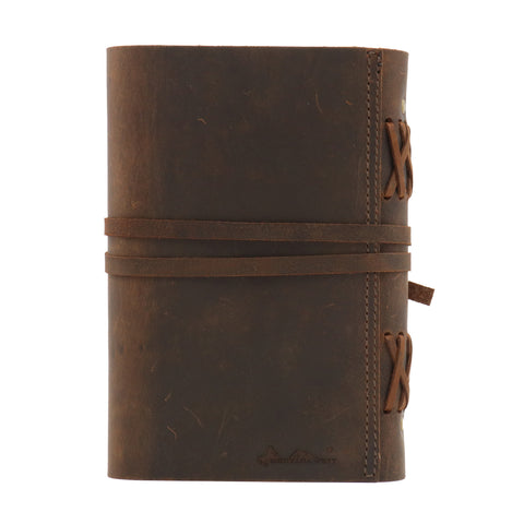 "MWL- 033 Montana West Western Vintage Genuine Leather Journal Notebook Handheld Size 6"" x 7.25"" (120 Sheets/240 Pages)"