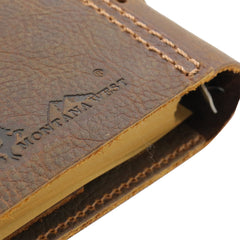 "MWL- 035 Montana West Western Vintage Genuine Leather Journal Notebook Handheld Size 6.5"" x 9.25"" (90 Sheets/180 Pages)"