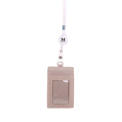 IDT-001  Montana West Real Leather Retractable ID Card Holder Reel Badge with Lanyard