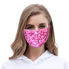 FCM-025A Camo Print Fabric Face Mask Double Layer Set of 2